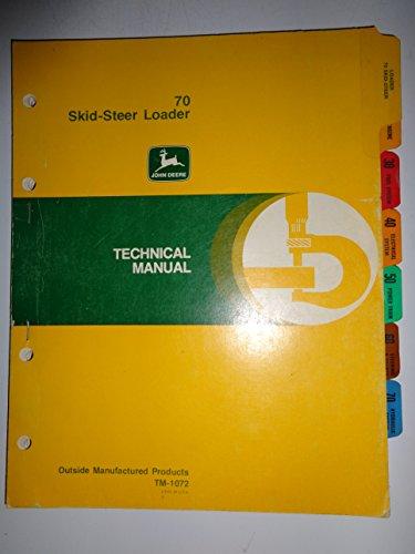 John Deere 70 Skid Steer Loader Technical Service Repair Manual 1/74