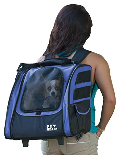 Pet Gear I-GO2 Traveler Roller Backpack for cats and dogs, Dark Lavender (Blue)