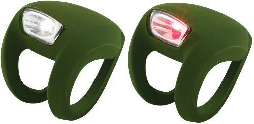 Knog Frog Strobe Twinpak - Headlight & Taillight combo Olive Bodies. BE SAFE - BE SEEN !