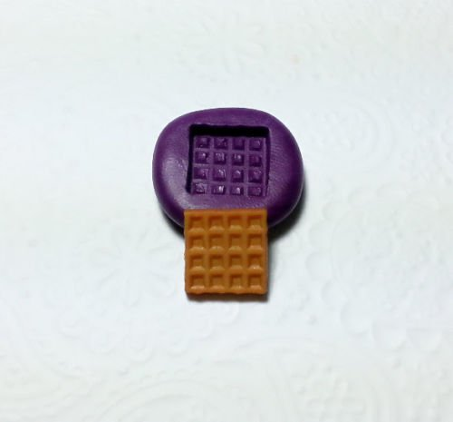 Silicone Mold Miniature Waffle Mould (12mm) Dollhouse Fake Sweet Food Jewelry (Making Fake Food compare prices)