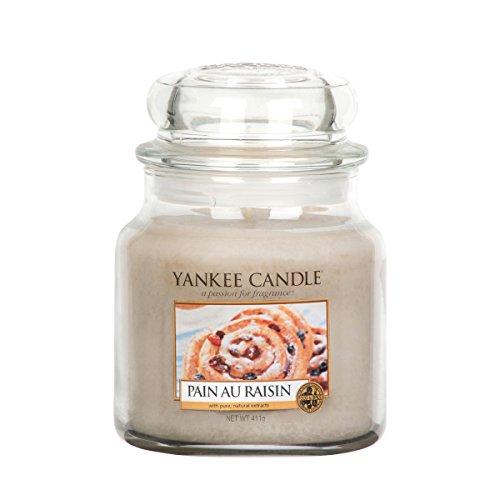 Yankee Candle 1332253E Bougie senteur Pain au Raisin en jarre Jaune