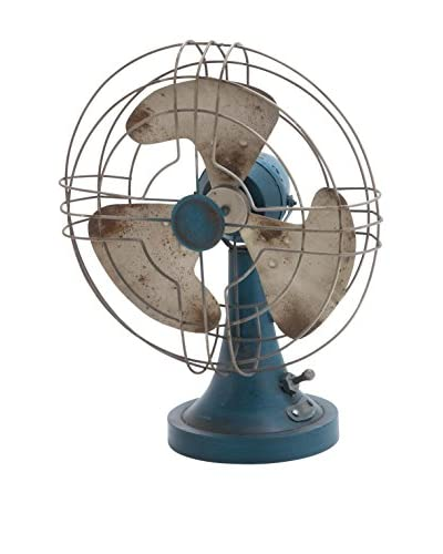 Deco 79 Metal Tabletop Fan