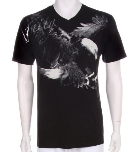 Dignity Eagle Short Sleeve V-Neck Cotton Adult Mens Fashion T-Shirt - Clearance Sale !