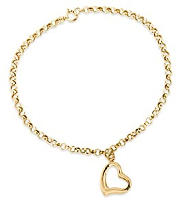 IBB - 1.24.6571 - Bracelet Femme - Coeur - Or jaune (9 Cts) 0.65 Gr