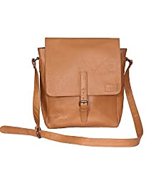 NC Designer Branded Genuine Pure Leather messenger bags.Comfort Pure Leather tan