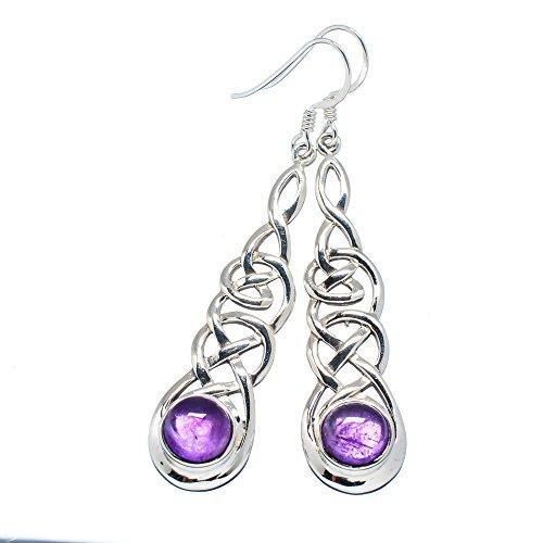 Ana Silver Co Amethyst 925 Sterling Silver Earrings 2 1/2