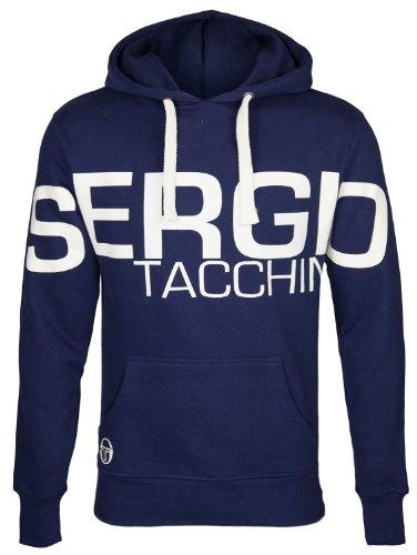 Sergio Tacchini - Felpa con cappuccio da uomo - logo-stampa