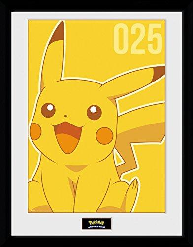 Pokemon-Pikachu-Mono-Pster-De-Coleccin-Enmarcado-40-x-30cm
