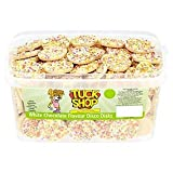 Tuck Shop White Chocolate Flavour Disco Disks x 120 Candy Pieces