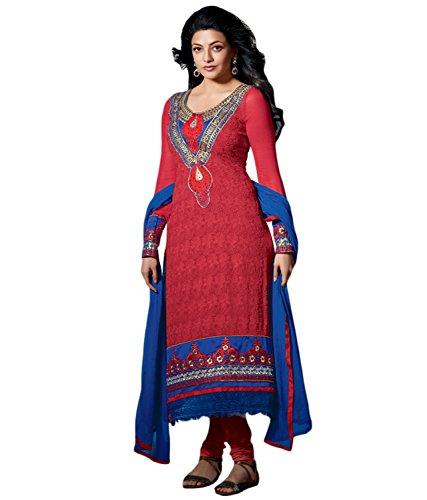 Priyas Karachi style work Georgette Embroidered salwar suits KA31011