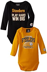NFL Pittsburgh Steelers Boy's Long Sleeve Bodysuit at SteelerMania