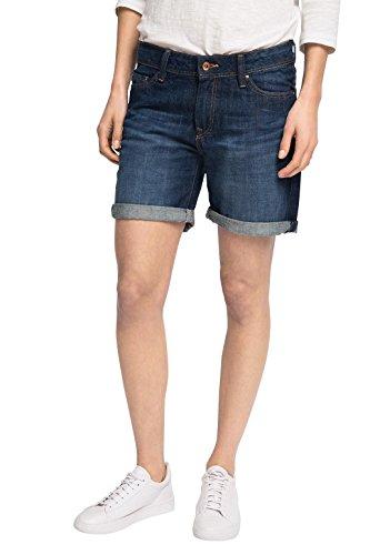 edc by ESPRIT 036CC1C005-5 Pocket Style, Shorts Donna, Blau (Blue Dark Wash 901), W28