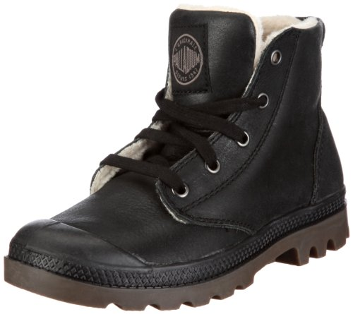 PALLADIUM Women's Pampa Hi Leather S-w Black Pilot Walking Shoe 92609-072-M 6 UK