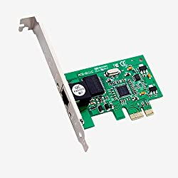 PCIE TO NIC,COOSO Profile 1-RJ45 Port PCI Express PCIE Gigabit NIC Server Adapter Network Card,Free Drive 5packs(8111C)