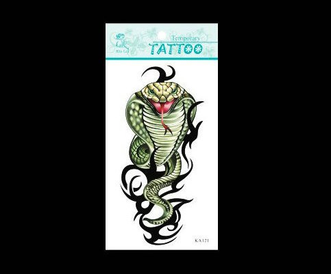 SYZ Beauty Waterproof Temporary Tattoos Snake Cobra Tattoos