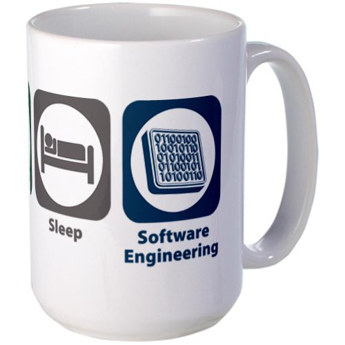 Cafepress Eat Sleep Software Engineering Large Mug Large Mug - Standard