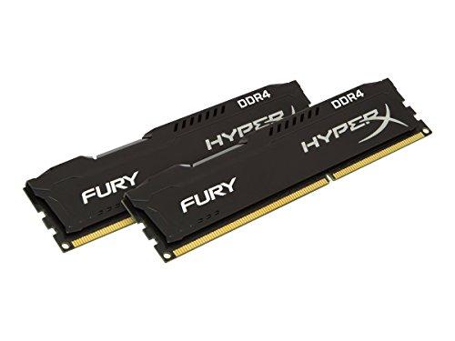 Kingston HyperX Fury Kit Memorie DDR4 da 16 GB 2400, 2x8 GB, Nero