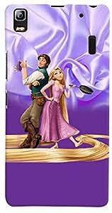 PrintVisa 3D-LK3N-D7701 Cartoon Couple Case Cover for Lenovo K3 Note