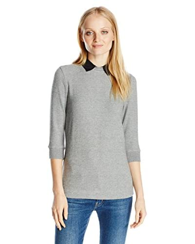 Three Dots Women's Sweater with Collar