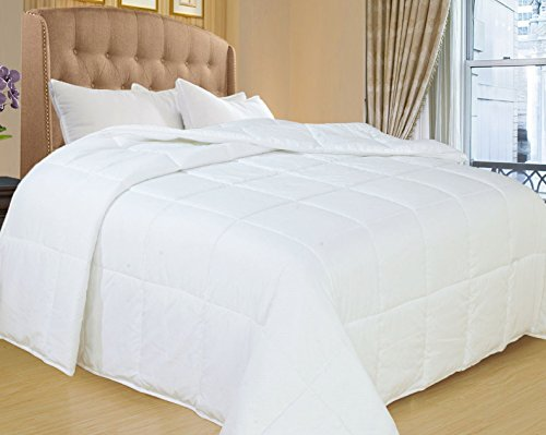 Natural Comfort White Down Alternative Comforter with Embossed Microfiber Shell, Light Weight Filled, King (Duvet Insert Lightweight compare prices)