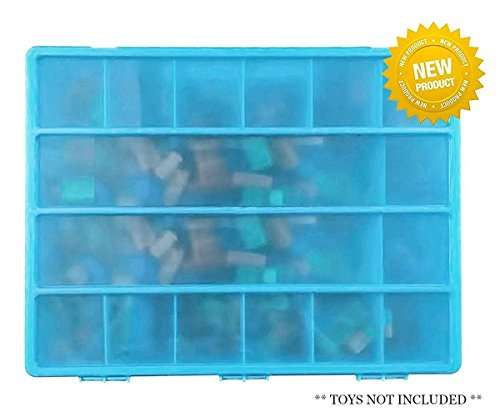 Building Bricks Storage Case With Carrying Handle - My Brick Bin Stores Hundreds Bricks.- Perfect Bricks Organizer