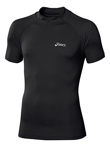 Asics Pantaloncini da uomo abbigliamento donna manica lunga 1/2Zip Top, Uomo, Oberbekleidung Shortsleeve 1/2 Zip Top, nero