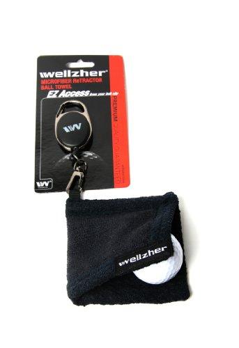 wellzher-premium-microfiber-retractor-golf-ball-towel-black