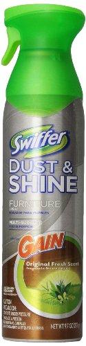 Swiffer Dust & Shine Furniture Polish Cleaner Gain Original Scent 9.7 Oz