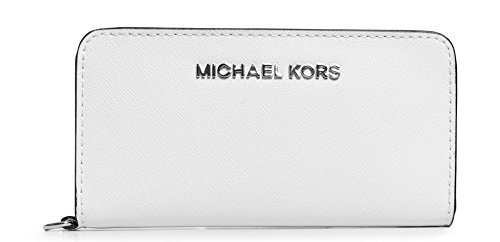 Michael Kors 32S4Stvw1L Jet Set Travel Slim Tech Wristlet Wallet Card Case - Optic White
