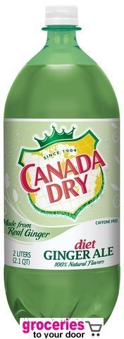 Canada Dry Ginger Ale Diet Green Tea, 2-Liter Bottle (Pack of 6)