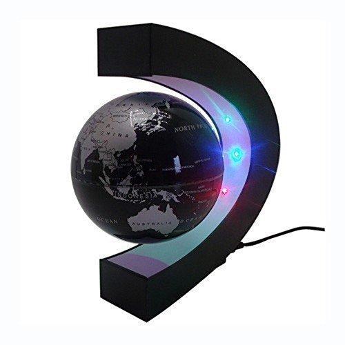 Senders floating globe with led lights c shape magnetic levitation senders floating globe with led lights c shape magnetic levitation floating globe world map for desk gumiabroncs Images
