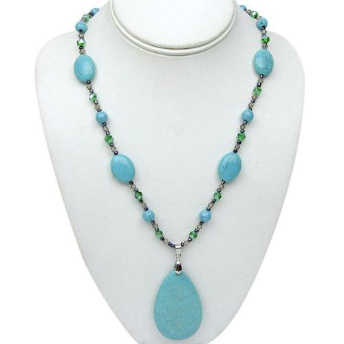 Stunning Green Turquoise Howlite and Multi Gemstones