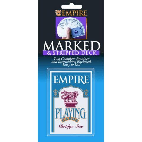 Empire Magic Marked and Tapered Deck - Includes Instructions and Four Complete Routines