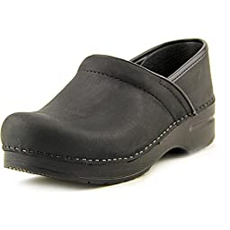 Dansko Unisex Professional Black Oiled Clog/Mule 37 (US Women's 6.5-7) Regular