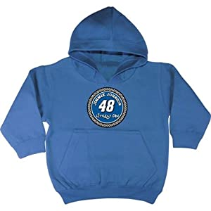 Checkered Flag Jimmie Johnson #48 Littlest Fan Toddler Hoodie - Royal by Checkered Flag