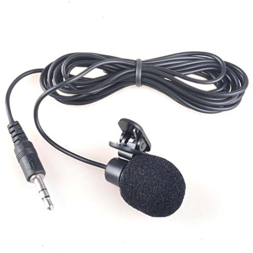 Hde Hands Free 3.5Mm Clip-On Mini Lapel Computer Microphone