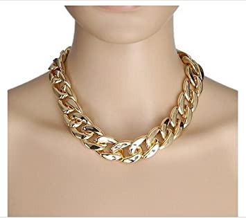 Large Chunky Fashion Necklaces Gold Chunky Large Bling