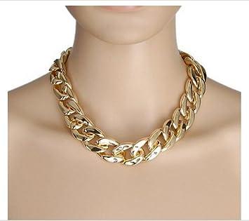 Large Chunky Fashion Necklaces Gold Chunky Large Bling