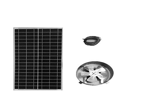 Amtrak Solar Attic Fan, 35 Watt Solar Panel, High Efficiency Fan Blades, 10 Year Warranty. (Solar Fan Roof compare prices)