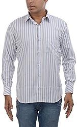 Major Sab Men's Casual Shirt MS7129L3_Blue_XXL