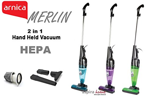 Merlin 2 in 1 Mini Handheld/Stick 500 Watt Bagless Corded Vacuum with ...