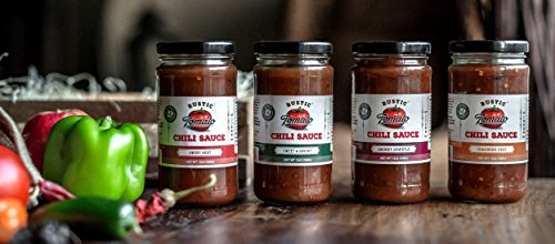 Rustic Tomato Homemade 100% Natural Chili Sauce (Variety Pack, 4 Flavors) (Hcg Tomato Sauce compare prices)