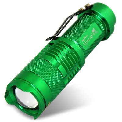 Comple Ultrafire Sk68 300 Lumens Cree Xpe-Q5 Focusing Led Torch With Clip (1 X 14500)