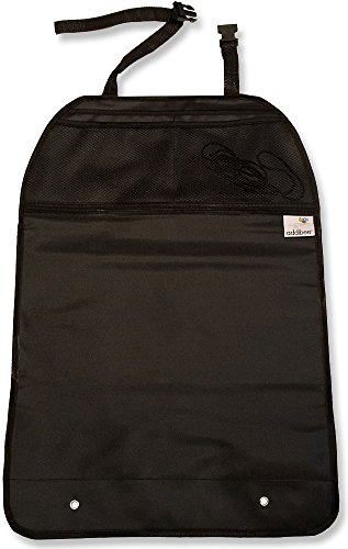 26 Inch Deluxe Car Seat Back Protector and Organizer - Bottom Kick Mat - Top Organizer Has Three Pockets - Kick Mat Protects Car Seat Back From Shoes and Dirty Hands - Organizer Kick Mat Protects Car Investment - Fits All Vehicles - Satisfaction Guaranteed - 1