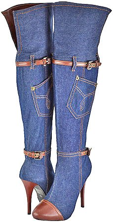 Rev Liliana Jackie Blue Denim Women Over The Knee
