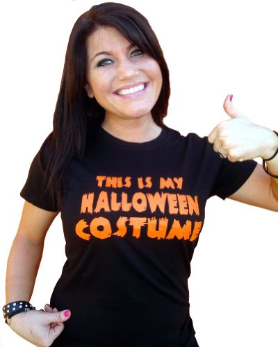 Juniors This Is My Halloween Costume Funny Novelty T-Shirt