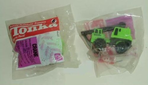 McDonalds Happy Meal Kids Toy #6 Tonka (Green) Crane 1994 - 1