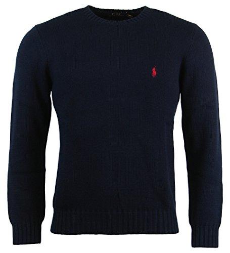 Polo Ralph Lauren Mens Cotton Crew Neck Sweater - Xxl - Navy
