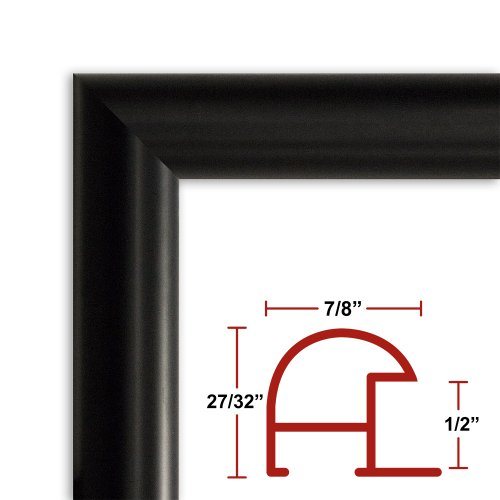 39 x 54 Satin Black Poster Frame - Profile: #16 Custom Size Picture Frame (54 X 39 Frame compare prices)
