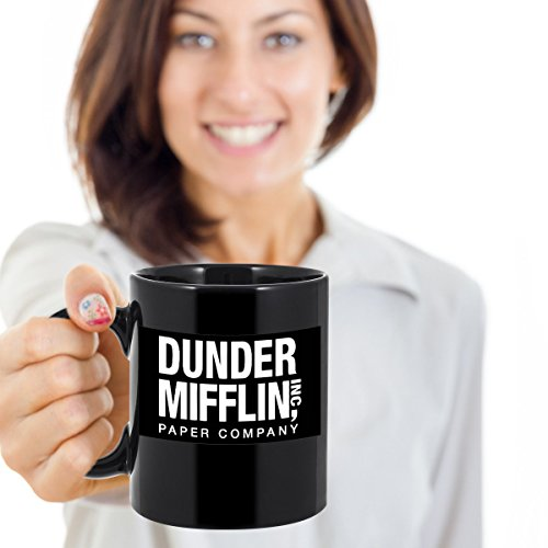 Dunder Mifflin - The Office TV Show Best Boss Ever Dwight Schrute - Coffee Mug Gift Set - This 11 oz Tea Cocoa Cup is Perfect For The Worlds Best Boss - Printed on Both Sides (Dunder Mifflin Merchandise Mug compare prices)